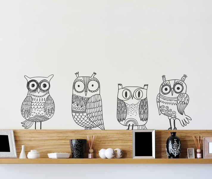 Stickaroo Wall Decals - The Owlie Family