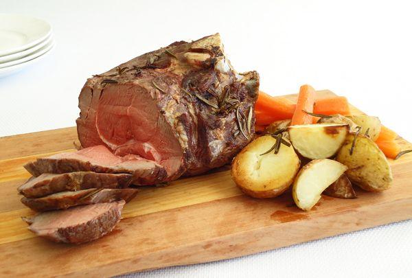 Slow cooker lamb roast.