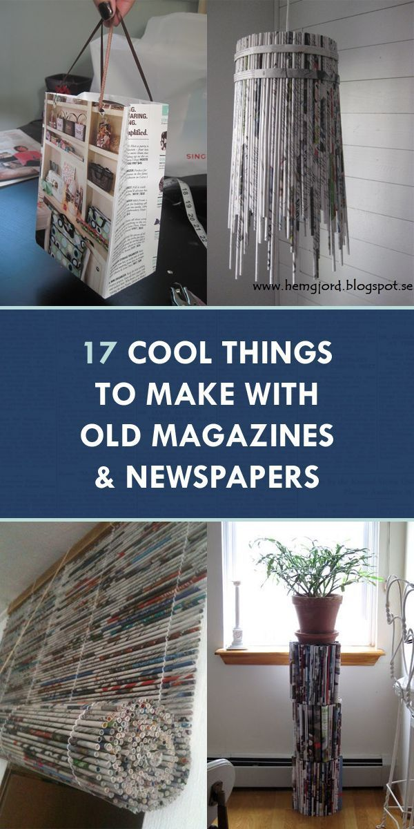 17 Cool Things To Make With Old Magazines And Newspapers 583497695454057489 In 2020 Recycled Magazine Crafts Recycled Paper Crafts Diy Newspaper