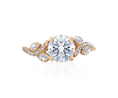 De Beers Adonis Rose Pink Gold Solitaire Engagement Rings