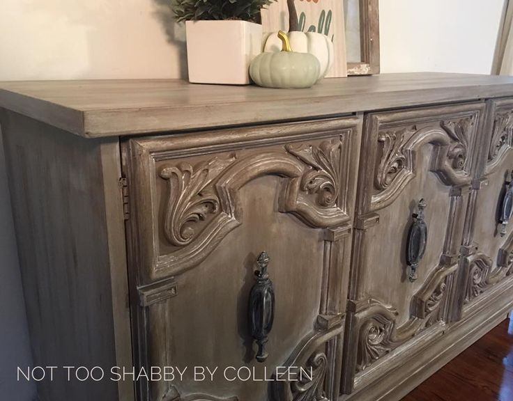 70s era sideboard / credenza updated by Not Too Shabby by Colleen