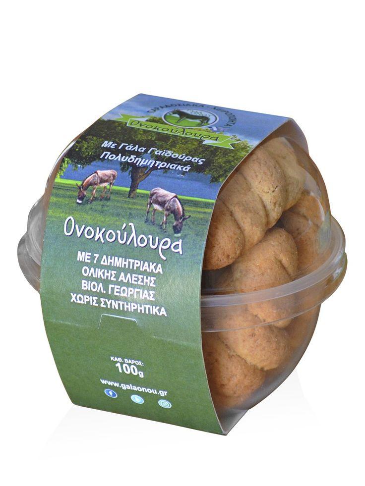 """Ονοκούλουρα με 7 δημητριακά ολικής άλεσης, βιολογικής καλλιέργειας """"Γάλα Όνου"""" 100g"""