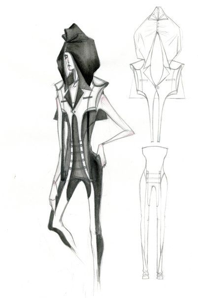 Fashion Sketchbook - womenswear fashion design illustration; fashion sketch; fashion portfolio // Mengjie Di