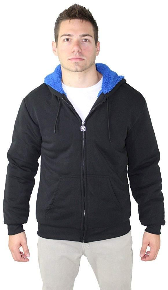 ccabe8bb0f3 Moda Essentials Men s Sherpa Lined Zip Up Hoodie Sweatshirt Big   Tall  Available