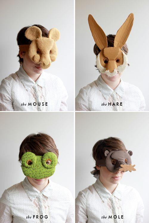2 DIY animals masks, j