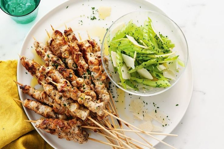 With a bit of chargrilling on the barbie and a zesty preserved lemon salad on the side, these chicken skewers deliver a huge flavour hit.