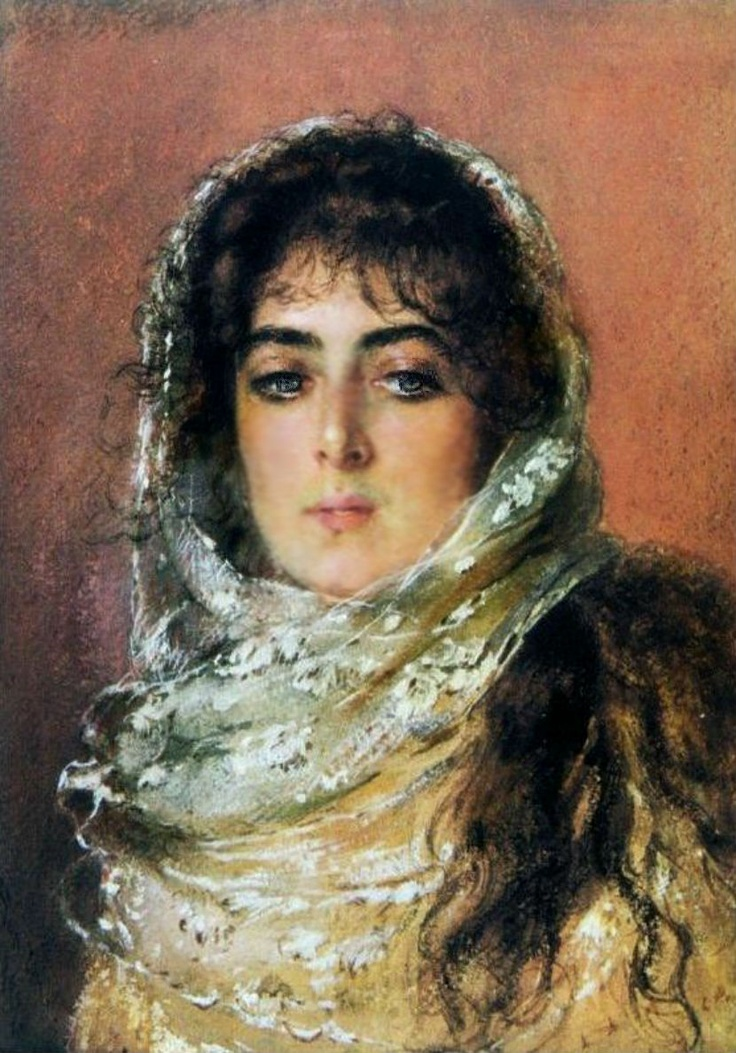 Portrait of Artist's Wife 1887. Konstantin Makovsky