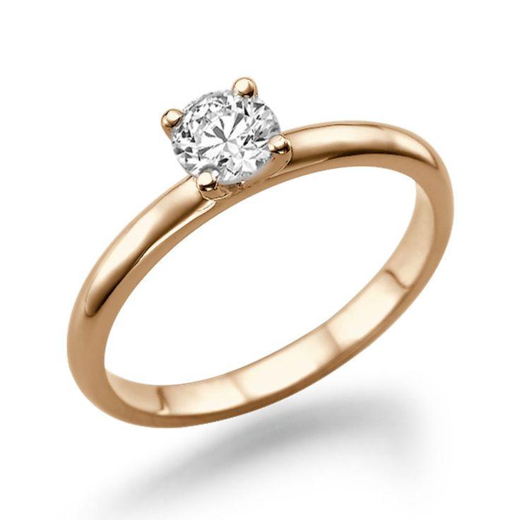 Verlobungs Diamant Ring Solitär 0.25 Karat (VS2/F) 585 Rosegold  #diamantring #verlobung #juwelier #abt #dortmund