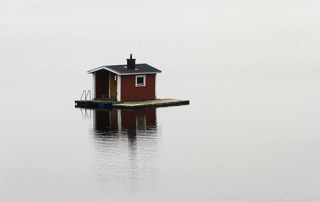 Floating Sauna in Sweden