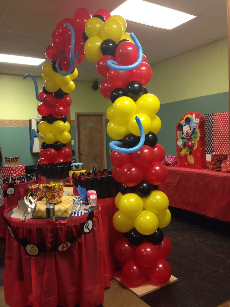 Mickey mouse balloon decor balloon decorations for Arch decoration supplies