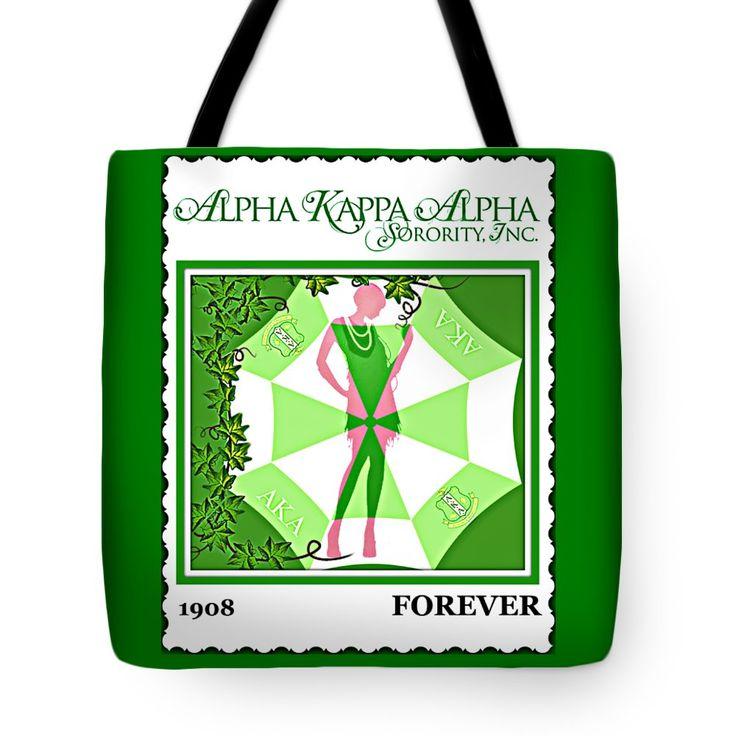 "Alpha Kappa Alpha Tote Bag 18"" x 18"""