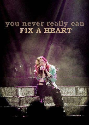 Its true, you will never be able to fix a broken heart its the one thing you cant do, you can try to but dont try it wont work at all....