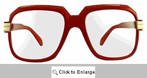 Telly Big Square Clear Lens Glasses - 364 Red