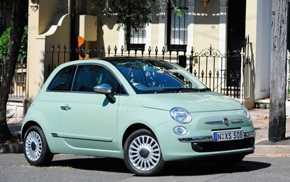 Fiat 500- this would be my perfect car! Especially that color. Love it!