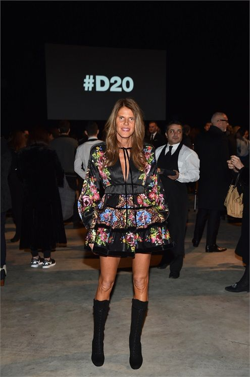 Anna Dello Russo dsquared2 milano fashion week 2015