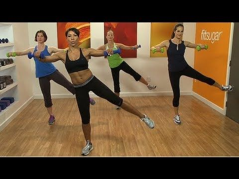 ▶ Fat Blasting 10-Minute Workout Video With Jeanette Jenkins - YouTube