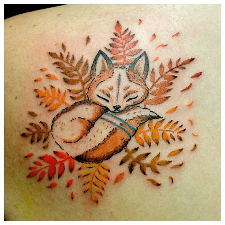 fox woodland tattoo
