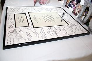 Unique Wedding Framing Ideas  Great way to relive you special day!  Instead of guest book, have something you can put on the wall.