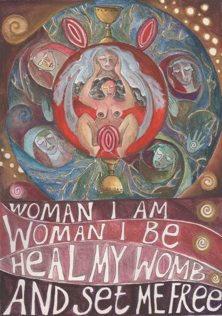 Heal My Womb - Chant by Clare Blake - Art by Jaine Rose