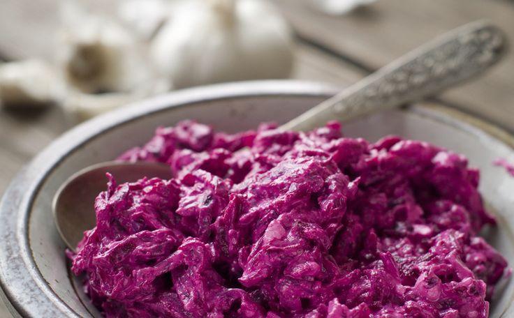 Salade met rode biet en mierikswortel: http://www.gezondheidsnet.nl/wat-eten-we-vandaag/salade-met-rode-biet-en-mierikswortel #recept #gezondeten #watetenwevandaag