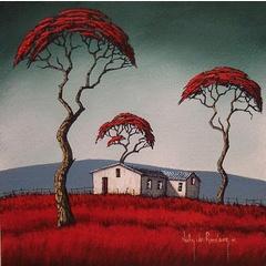 Red Tree.Original Painting by Nicky van Rensburg