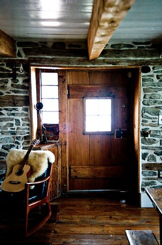 Awesome #rustic doorway! #woodsy #entryway