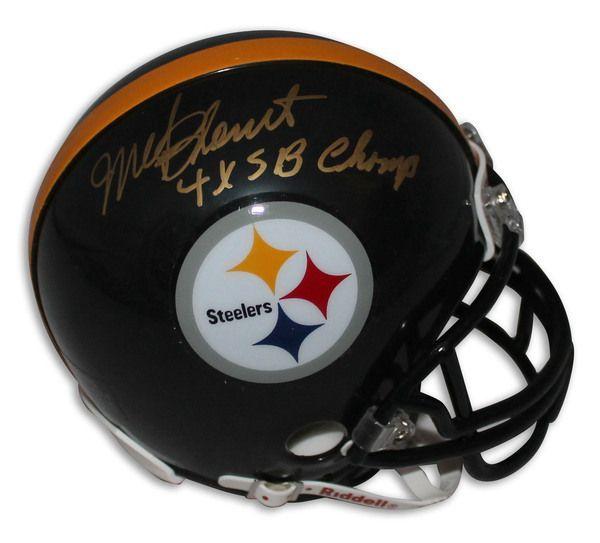 "Mel Blount Pittsburgh Steelers Autographed Mini Helmet Inscribed """"4X SB Champ"""""