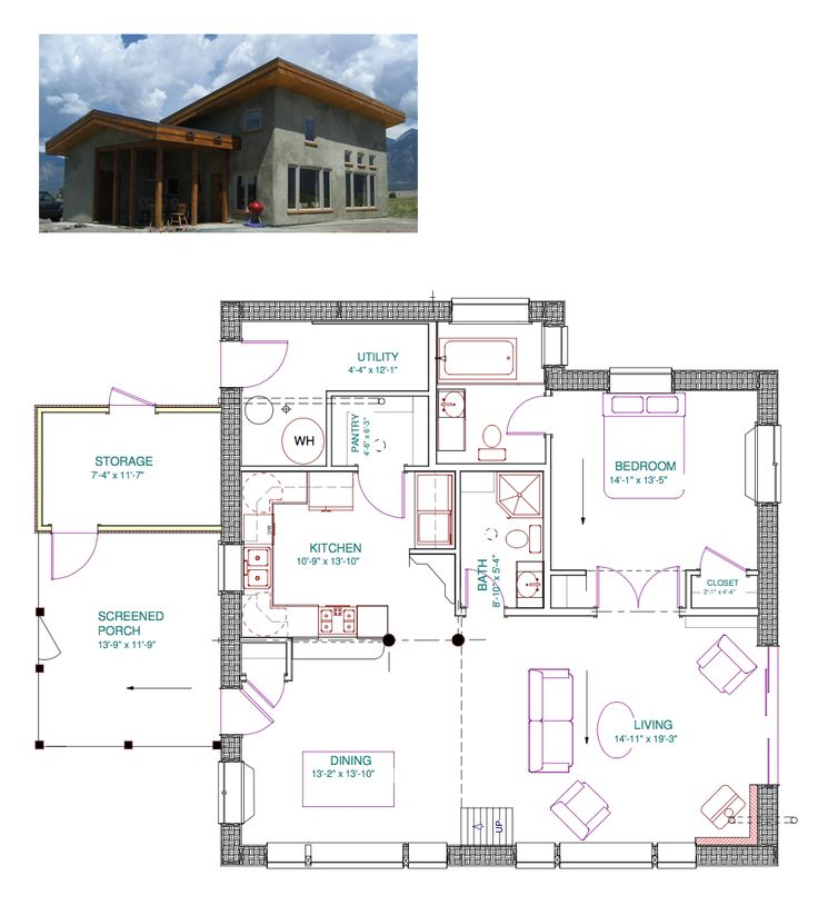 Off the grid house floor plans gurus floor for Off grid homes plans