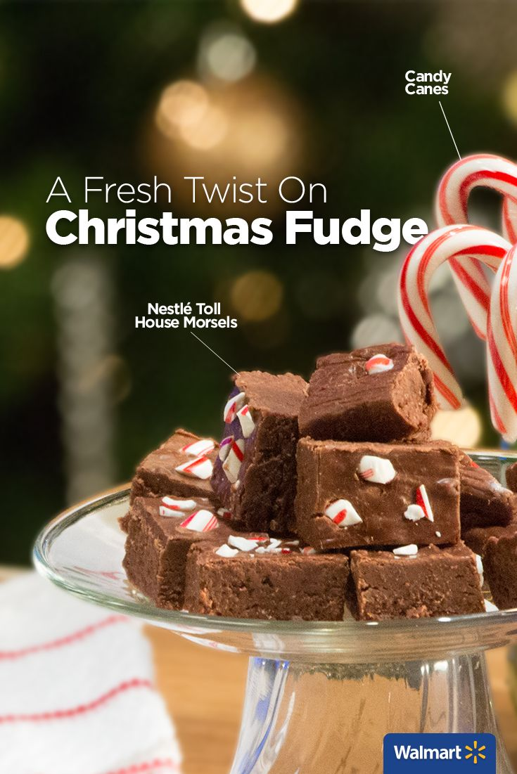 Nestlé Toll House Semi-Sweet Chocolate Morsels | Walmart – What's rich, decadent, and great for parties or gifts? This Christmas fudge is made easy with marshmallows and festive with candy canes. Find the recipe and more holiday favorites at Walmart.