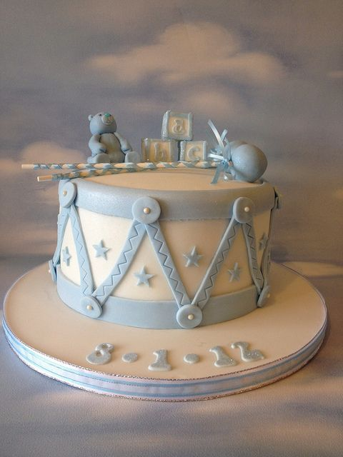Drum Christening Cake by Cakes by Jordana, via Flickr
