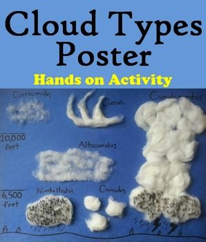 This clouds poster allows students to use cotton balls to create their own clouds poster featuring each type of cloud. Instructions are given directing students how to create each cloud. A grading rubric is also provided as well.