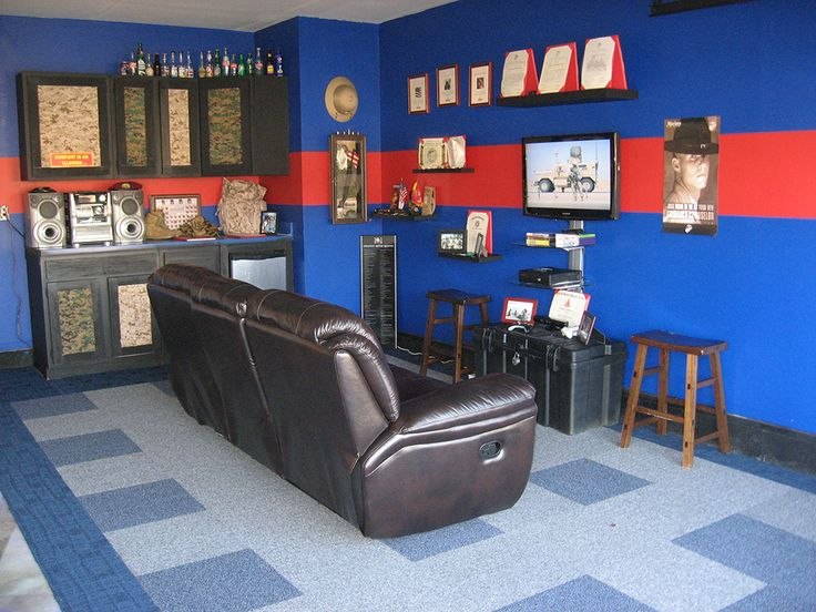 Marine man cave  Maybe not quite as moto  but I like how they displayed448 best Marines images on Pinterest   Marines  Marine corps and  . Marine Corps Themed Room. Home Design Ideas
