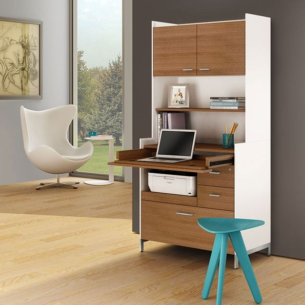 aspect white walnut collection bdi furniture modern office concealed - Bdi Furniture