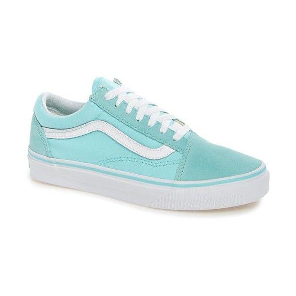 Women's Vans Old Skool Sneaker ($60) ❤ liked on Polyvore featuring shoes, sneakers, retro shoes, vans shoes, stripe shoes, vans sneakers and striped shoes
