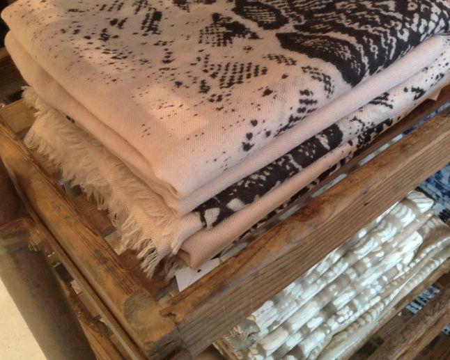 a beautiful range of Swedish shawls with cashmere mix from Mitzi B