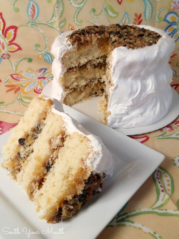 Southern Heirloom Lane Cake! Get this and hundreds more Southern recipes in the latest cookbook from Mandy Rivers in the South Your Mouth Series, 'South Your Mouth Some More!'