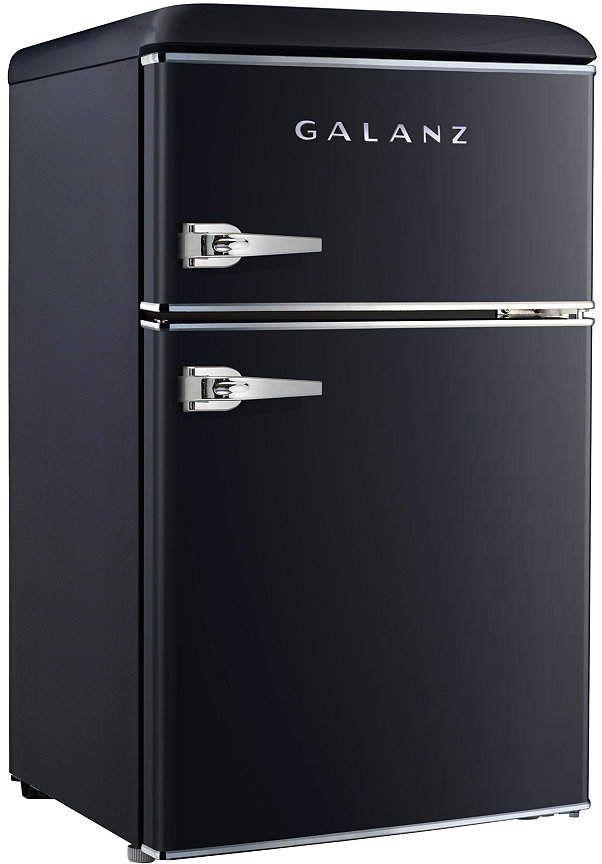 Galanz 3 1 Cu Ft Dual Door Retro Style Mini Fridge Reviews Small Appliances Kitchen Macy S Mini Fridge Retro Fridge Small Refrigerator
