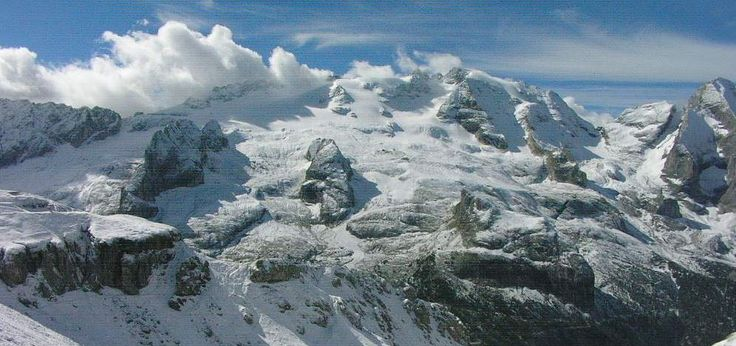 11th september 2013. #Marmolada with snow!! wow