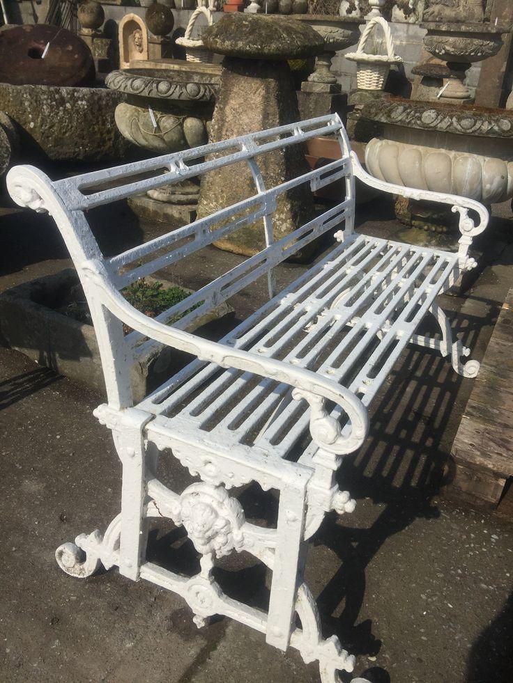 Cast iron Victorian bench # garden statuary