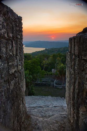 How did the #Mayans enjoyed their sundowns? at the top of the world in #Tikal, #Guatemala. I love the colors!