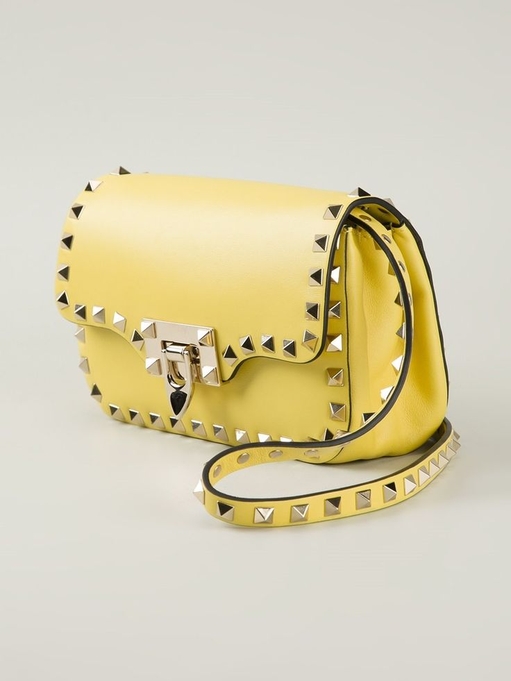 Valentino 'Rockstud' crossbody bag in yellow