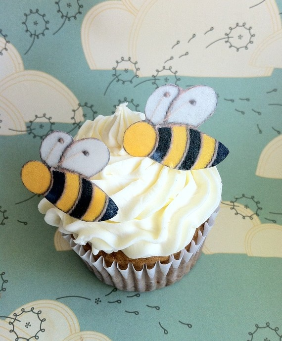 Edible Bumble Bee Cake Topper