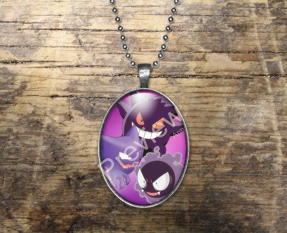Gastly Haunter Gengar Pokemon Evolution Pendant by PokemonyByAnn