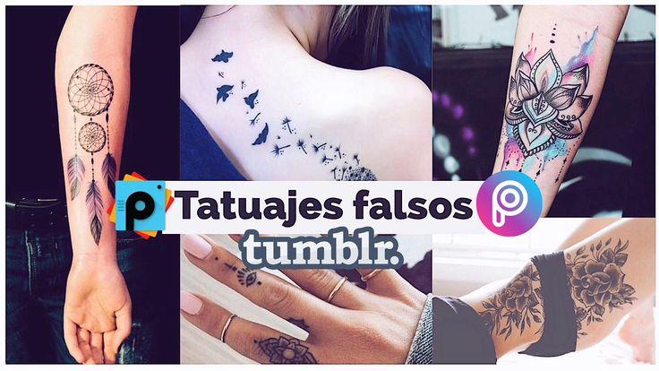 Hacer tatuajes falsos tipo Tumblr en tus fotos, PicsArt Tutorial