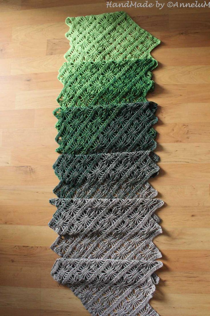 941 best Tücher und Schals images on Pinterest | Crochet shawl ...