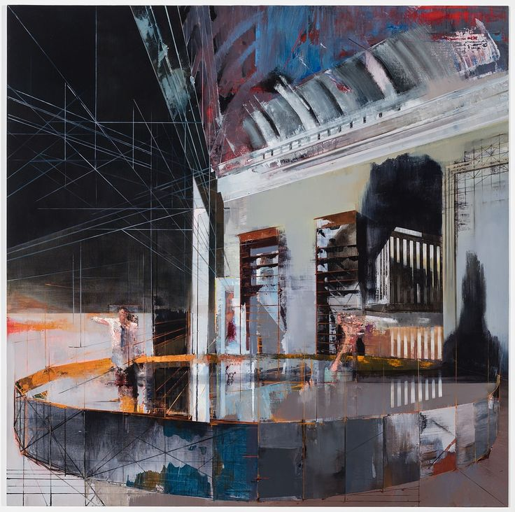 Tim Kent. The Somnambulist. 2015. Oil on Canvas 70 x 70 Inches