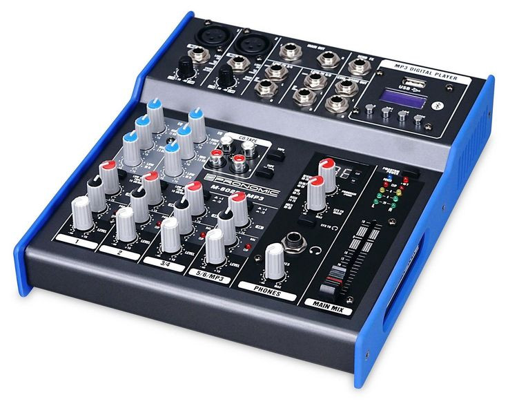 Mixer Table de Mix Mixage DJ PA Scene EQ Bluetooth MP3 FX 6 Canaux 6,3mm Jack