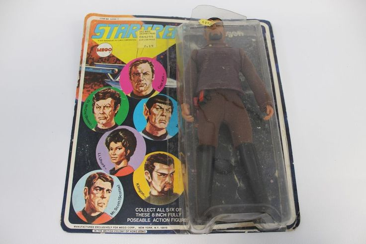 Klingon Vintage 1974 Mego STAR TREK 8 inch Action Figure On Card, Blister open #Mego