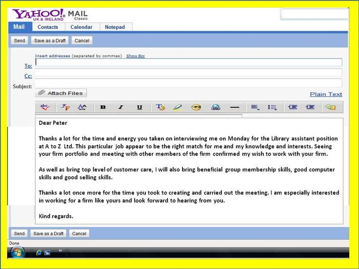Job Interview Follow Up Email Sample template