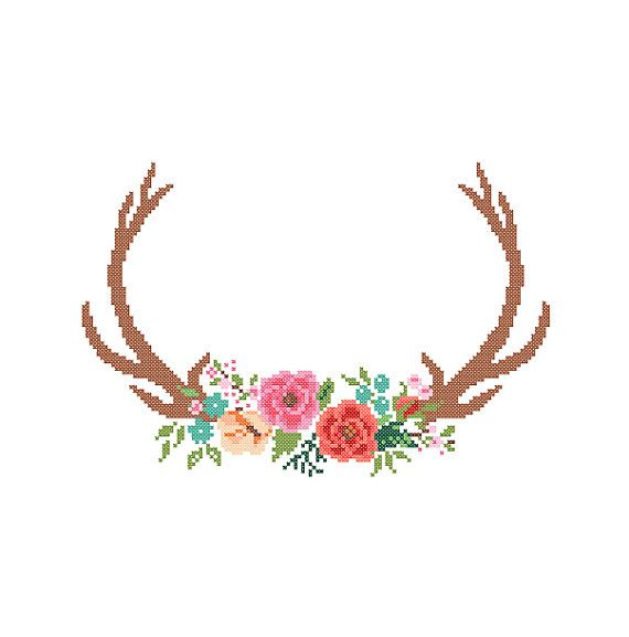 Modern Deer Cross Stitch Pattern cross stitch by ZindagiDesigns